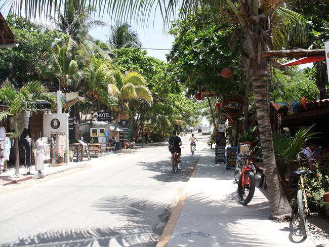Local streets of Tulum. Picture: Sangeeta Kocharekar