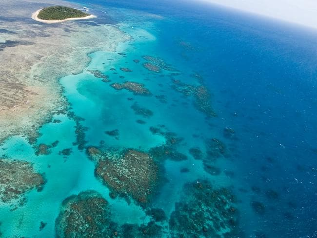 A view of the Great Barrier Reef.