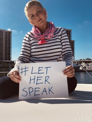 Sarah Monahan has joined the #LetHerSpeak campaign. Picture: Supplied