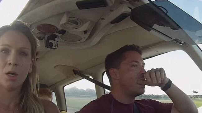 It's a tense moment in the cockpit when the plane runs into trouble. Picture: Family Pilot