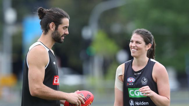 Brodie Grundy will spend more time forward in 2018. Picture: David Crosling