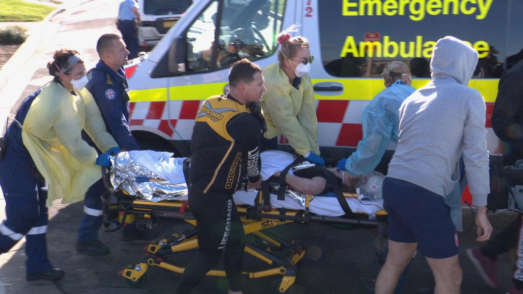 The woman lost consciousness in the water only a minute after she had been checked. Picture: Daniel Shaw/OnSceneBondi
