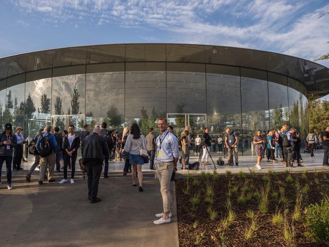 Apple's new spaceship campus. Picture: Jennifer Dudley-Nicholson