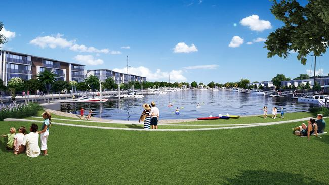 Lakeside parks will allow access for non-motorised water activities.