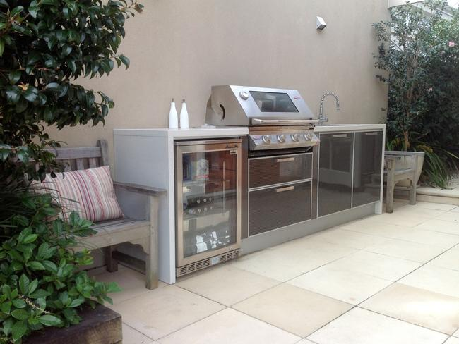 Power, gas and water are the three components needed for an outdoor kitchen. Picture: Kastell Kitchens