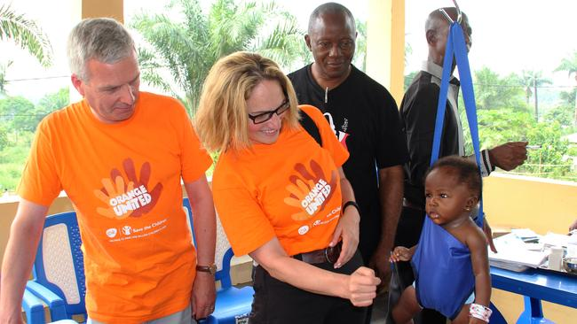 Lisa Bonadonna, head of drug company GlaxoSmithKline's partnership with Save the Children, pictured in Africa. Picture: Supplied