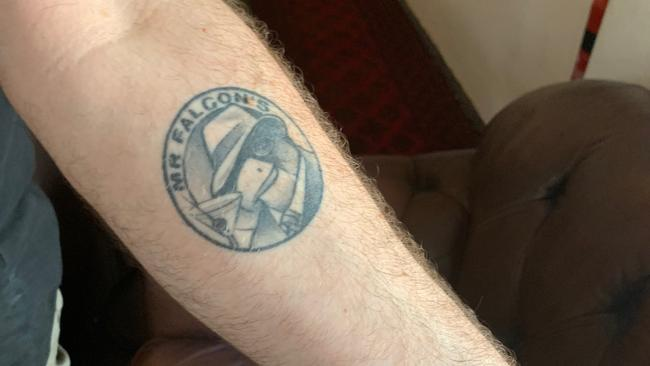 Nick Hoar even has a tattoo of his former venue on his arm. Picture: Benedict Brook