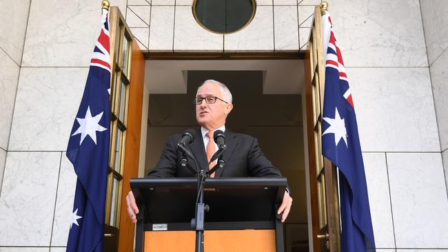 Australian Prime Minister Malcolm Turnbull speaks during a press conference at Parliament House in Canberra. Picture: AAP