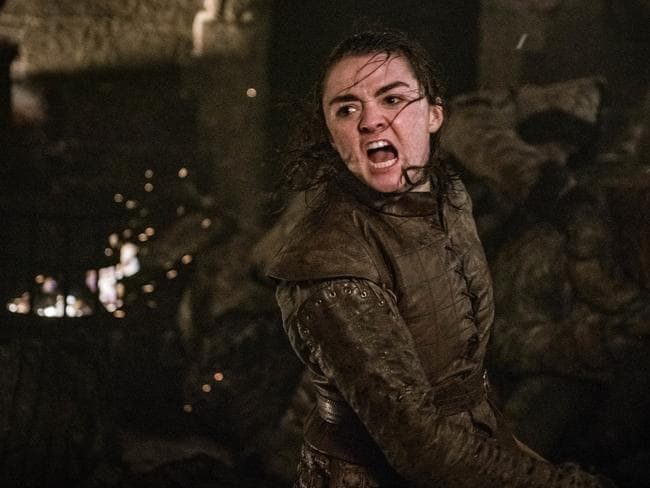 She's on fire (not literally). Arya saves the day in Episode 3.