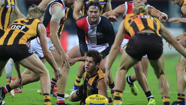 The AFL is facing a congestion problem as far too many players are constantly around the ball.