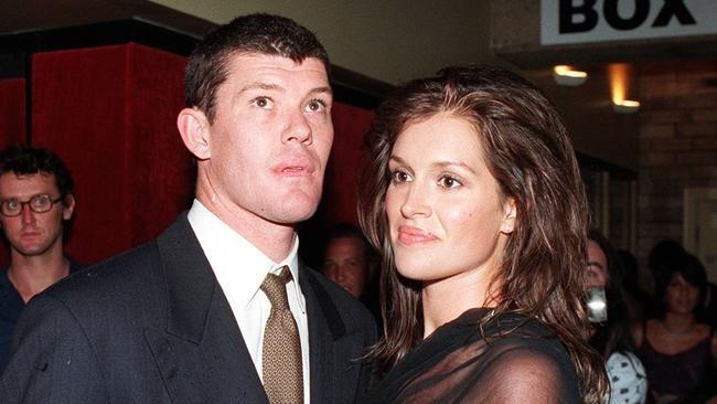 James Packer with Kate Fischer in the 90s.