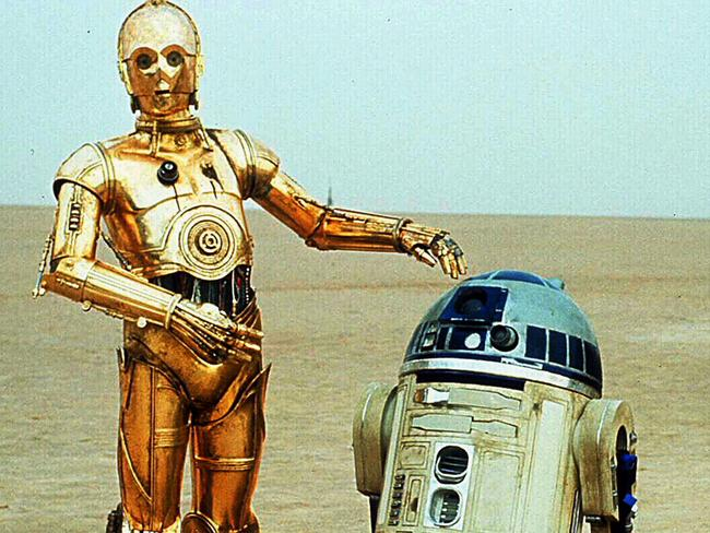 R2D2 and C3PO in scene from film Star Wars. Picture: Supplied