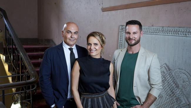 <i>The Block</i> judges Neale Whittaker, Shaynna Blaze and Darren palmer.