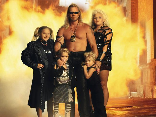 "Bounty hunter Duane ""Dog"" Chapman with his wife and children."