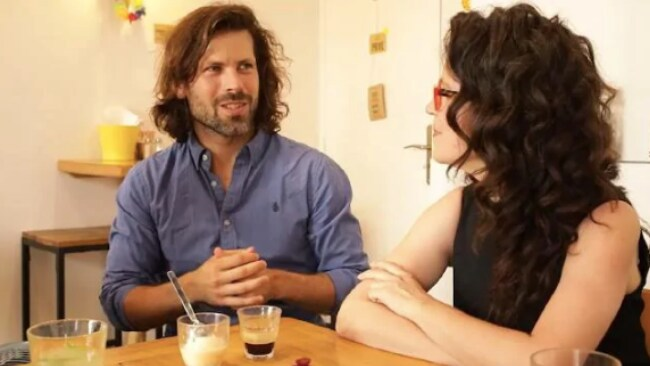 Annabel Crabb talking a young French man about approaching women on the street. He says there is no problem with it. It's romantic. Source: Supplied