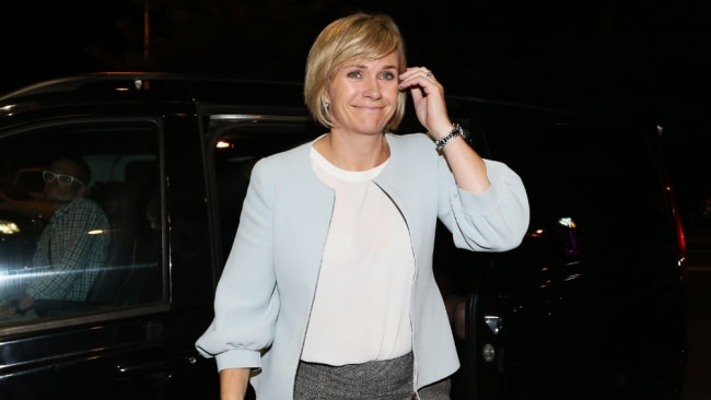 Independent MP Zali Steggall arriving at her election party Image: Getty