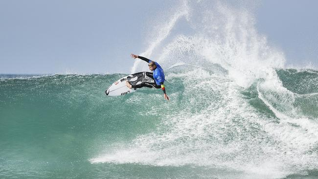 Defending champion Mick Fanning's clash with Brazilian Caio Ibelli will be a big drawcard Jeffreys Bay. Picture: WSL