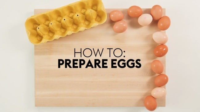 How to prepare eggs