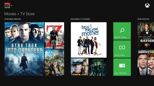 Movies and streaming TV will be available on the nicely presented Xbox dashboard. However, we won't get all the same content as our American and European friends. Source: supplied