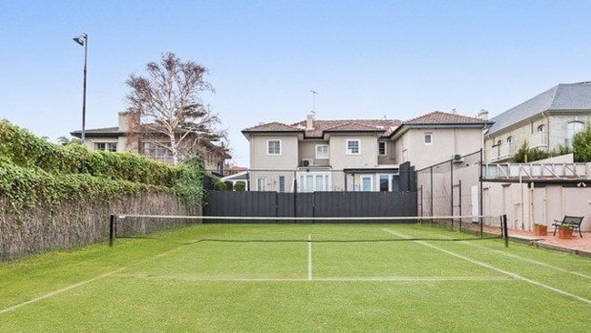 The townhouse comes with one third ownership of a tennis court.