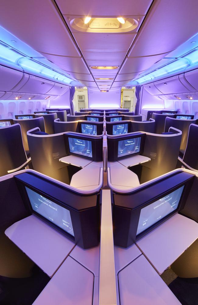 We all scream ... for large screens. Picture: Virgin Australia