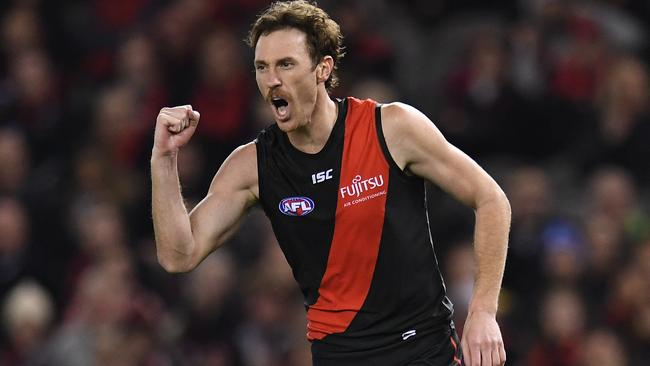 Mitch Brown was one of Essendon's best in his 50th career game.