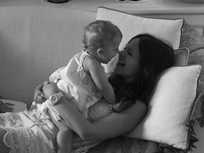 Tammin Sursok with her beautiful daughter. Picture: Tammin Sursok