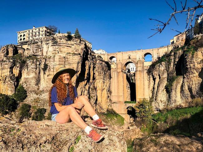 Checking out the sights of Ronda, Spain. Picture: Jam Press