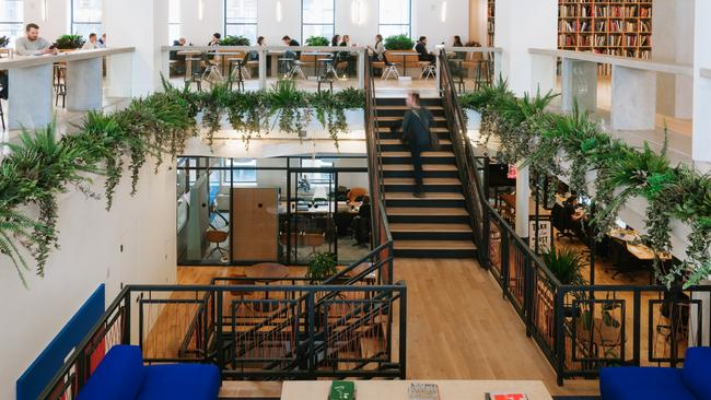 WeWork spaces are famously modern and bright.