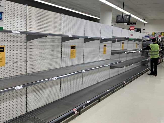 In response to supermarket shelves being wiped clean, Coles, Woolworths, Aldi and Costco have all enforced limits on certain in-demand items. Picture: Supplied