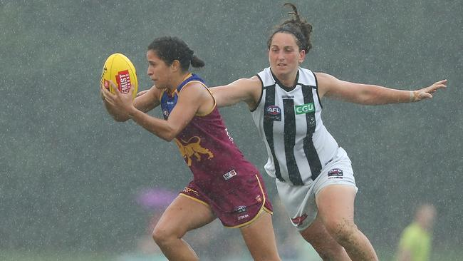 The weather didn't dampen Collingwood's spirits. Photo: Chris Hyde/Getty Images