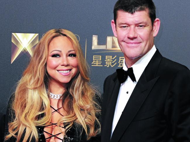 Mariah Carey and James Packer split in October 2016. Picture: Getty