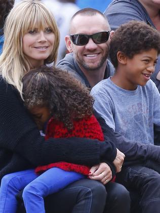 Heidi Klum and Martin Kirsten with two of Klum's children. Picture: Splash
