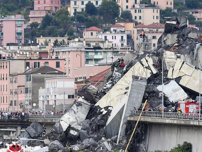 Authorities continue to search the rubble for survivors. Picture: Getty Images