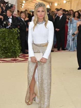 Sienna Miller attends the 2018 Met Gala in New York City. Picture: AFP