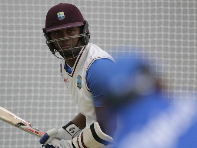 Samuels in training ahead of the first Test in Hobart. Picture: Luke Bowden: