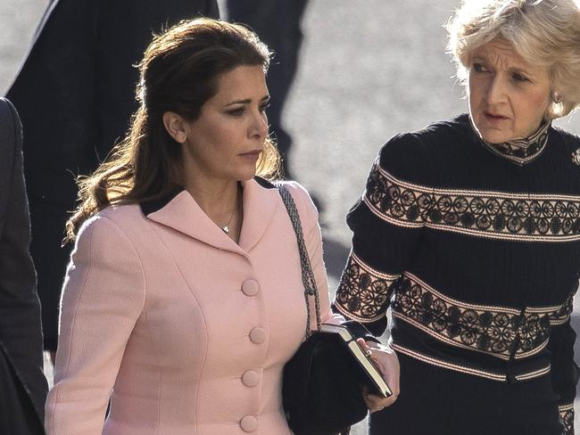 Princess Haya arrives at the High Court with her lawyer Fiona Shackleton. Picture: Dan Kitwood/Getty Images