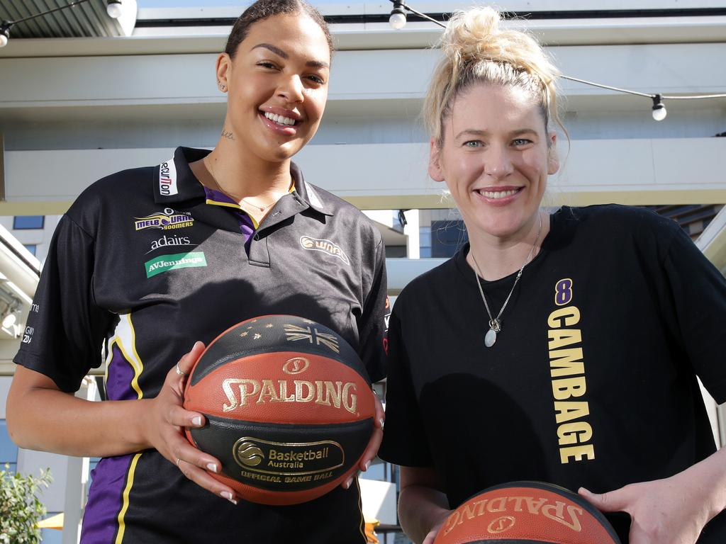 Liz Cambage and Lauren Jackson