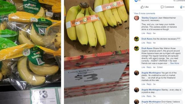 The supermarket giant has also been criticised for wrapping fruit in plastic. Picture: Facebook/Woolworths