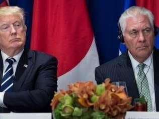 Tillerson with Trump
