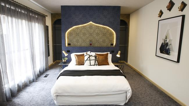 The main bedroom has a Moroccan theme. Picture: David Caird