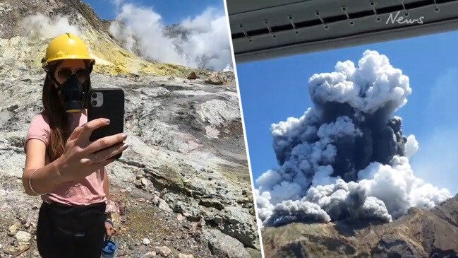 Shocking video: Tourists visit White Island before witnessing eruption