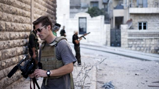 ONGOING FEAR....ISIS militants are threatening to kill another US hostage who was being held captive with Foley. Picture:AP/freejamesfoley.org, Manu Brabo