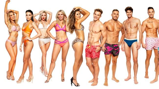 The line-up of Love Island contestants. Erin is third from the left.