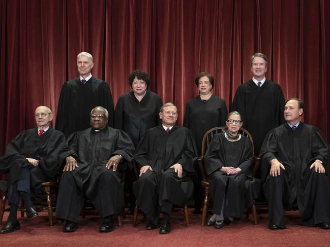 The right is pushing the Supreme Court to reconsider Roe v Wade, which made abortions legal. Picture: AP