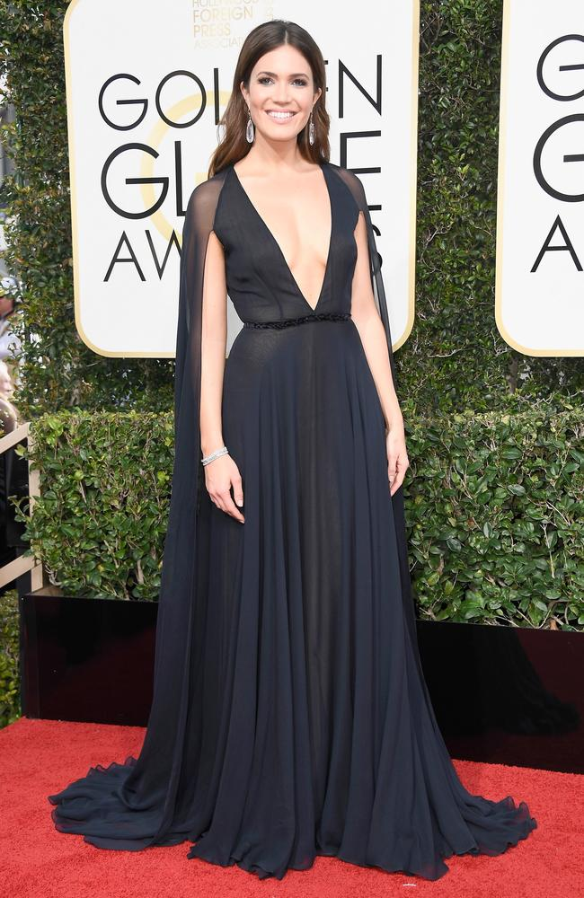 Mandy Moore at the 2017 Golden Globes.
