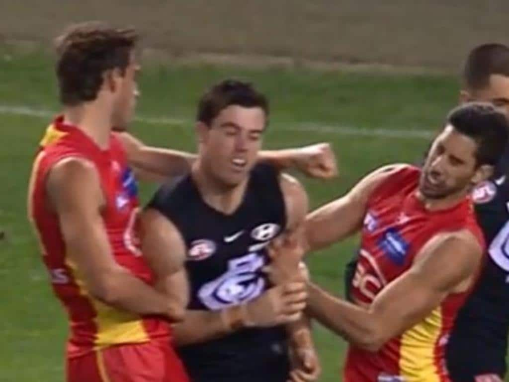 Ben King accidentally punched Suns teammate Michael Rischitelli.