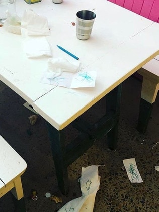 A mess left by kids at Pazar Food Collective. Picture: Instagram