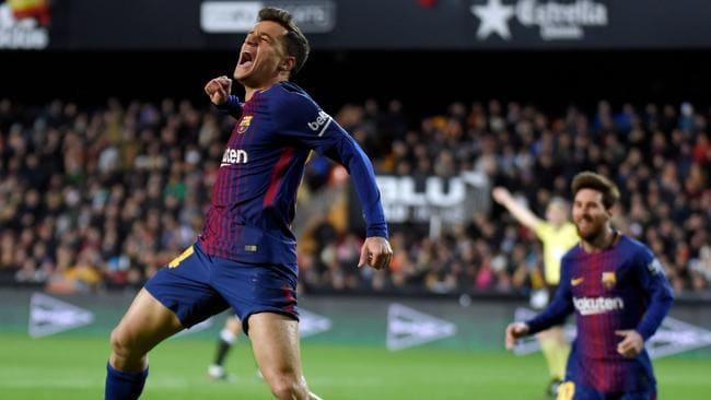 Barcelona's Brazilian midfielder Philippe Coutinho.