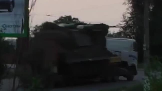 Chilling video ... the Ukrainian defence ministry says this is the rocket launcher that took down MH17.
